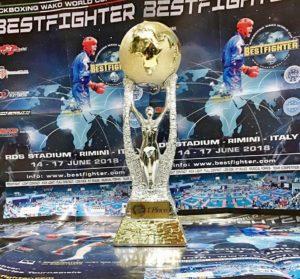La tanto ambita Coppa del Mondo WAKO 2018
