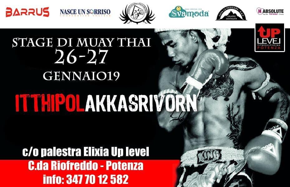 Seminario Muay Thai Itthipol - 27 gennaio 2019