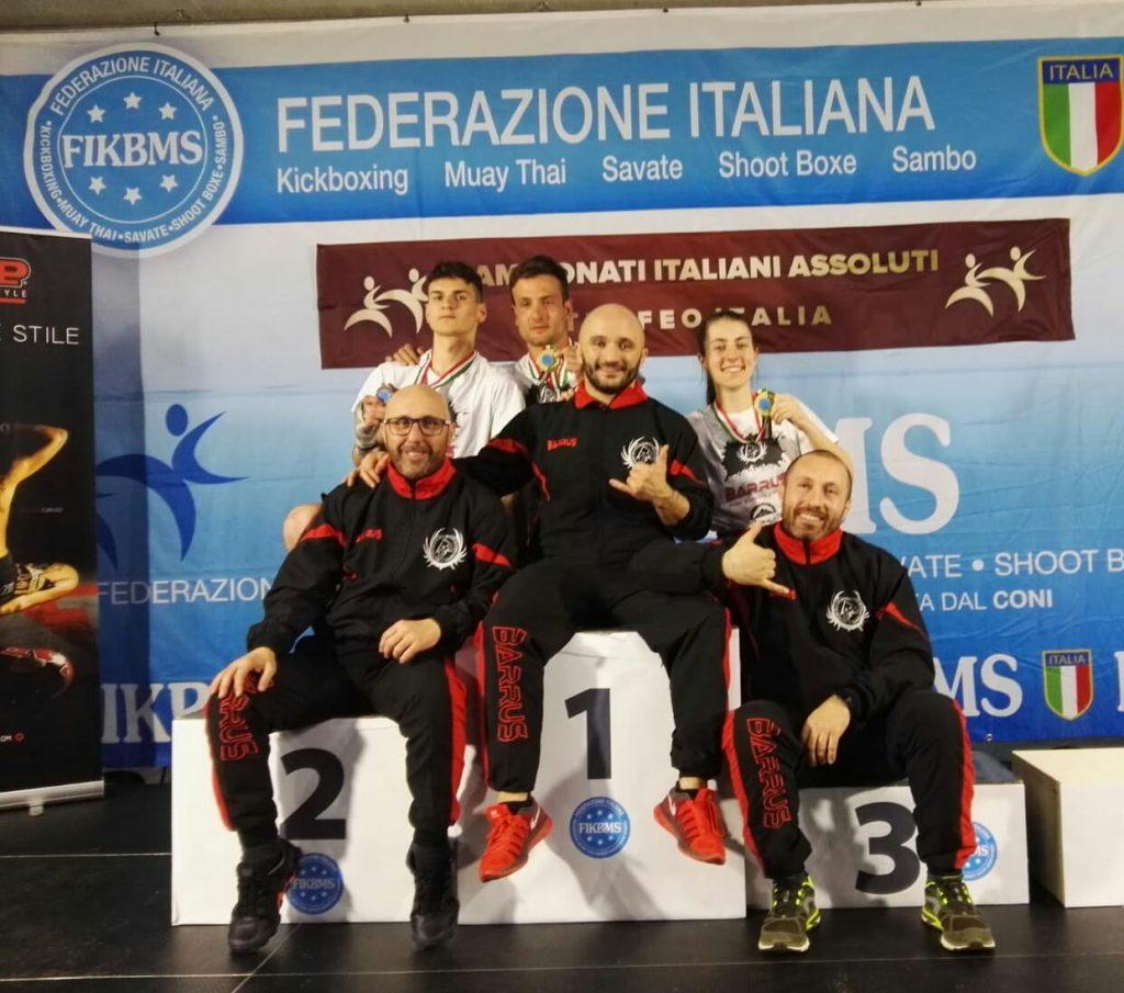 Massimiliano Monaco - Alfredo Falconieri - Bartolo Telesca - Accademia arti marziali Potenza - Campionati Italiani FIKBMS