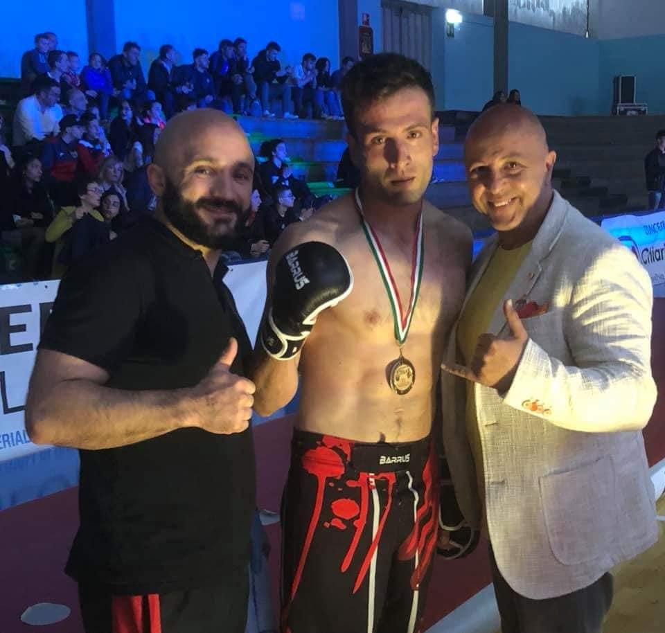 Donatello Angerame - Oro - MMA - con Massimiliano Monaco e Gianni Befà