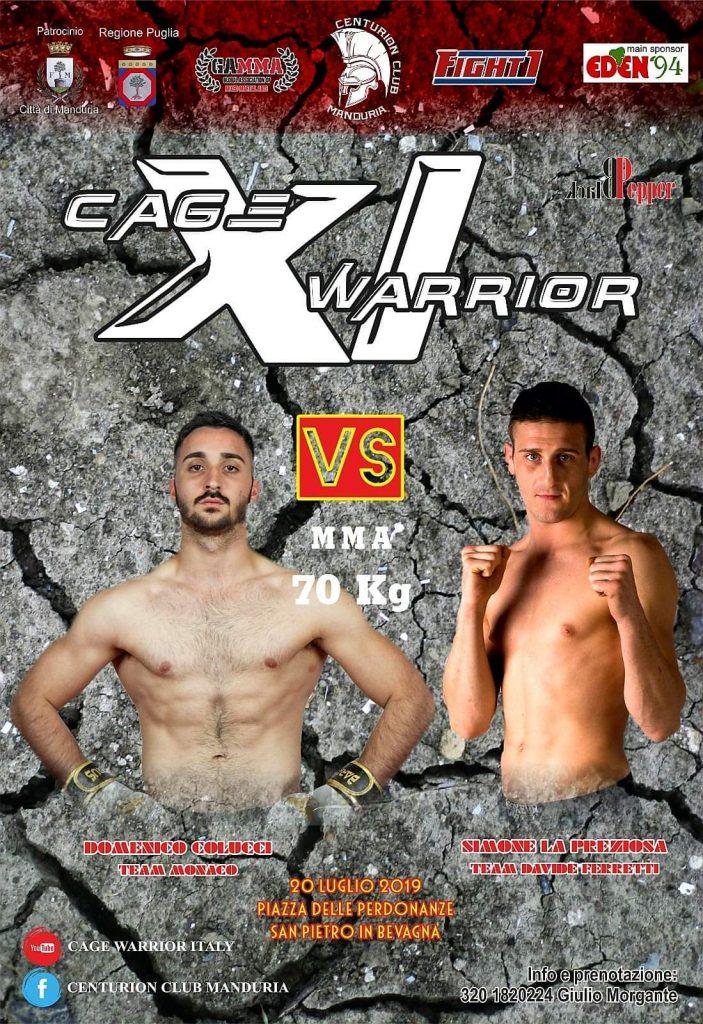 Domenico Colucci - MMA Fighter - Cage Warrior 20 Luglio 2019