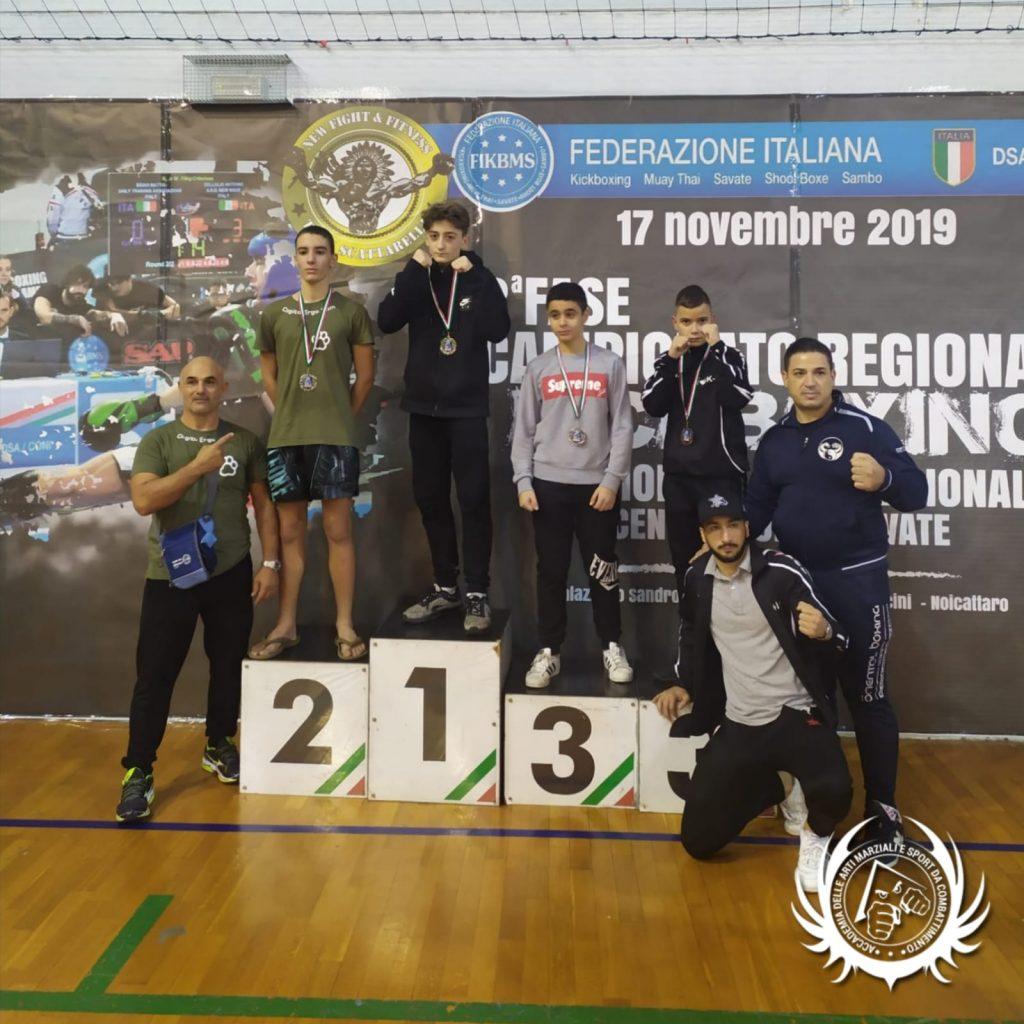 Simone Fabrizio - oro - campionato regionale FIKBMS 2019 kickboxing